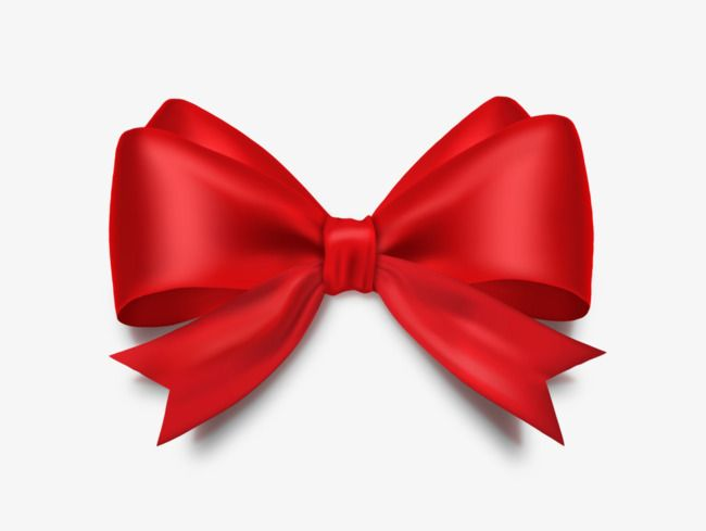 Fashion fine red bow. Bows clipart ribbon