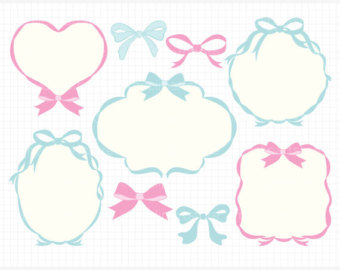 Bows clipart shabby chic. Frames swirly whirly frame