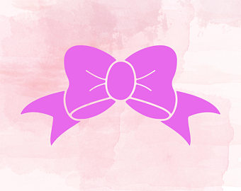 Bow svg etsy dxf. Bows clipart silhouette
