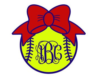 Bows clipart softball. Volleyball svg monogram bow