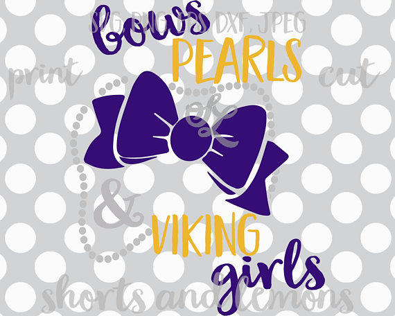 Pearls and viking girls. Bows clipart southern