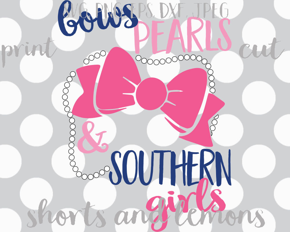 Bows clipart southern. Pearls and girls svg