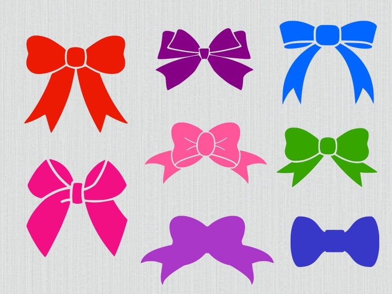 Bow bundle monogram nursery. Bows clipart svg