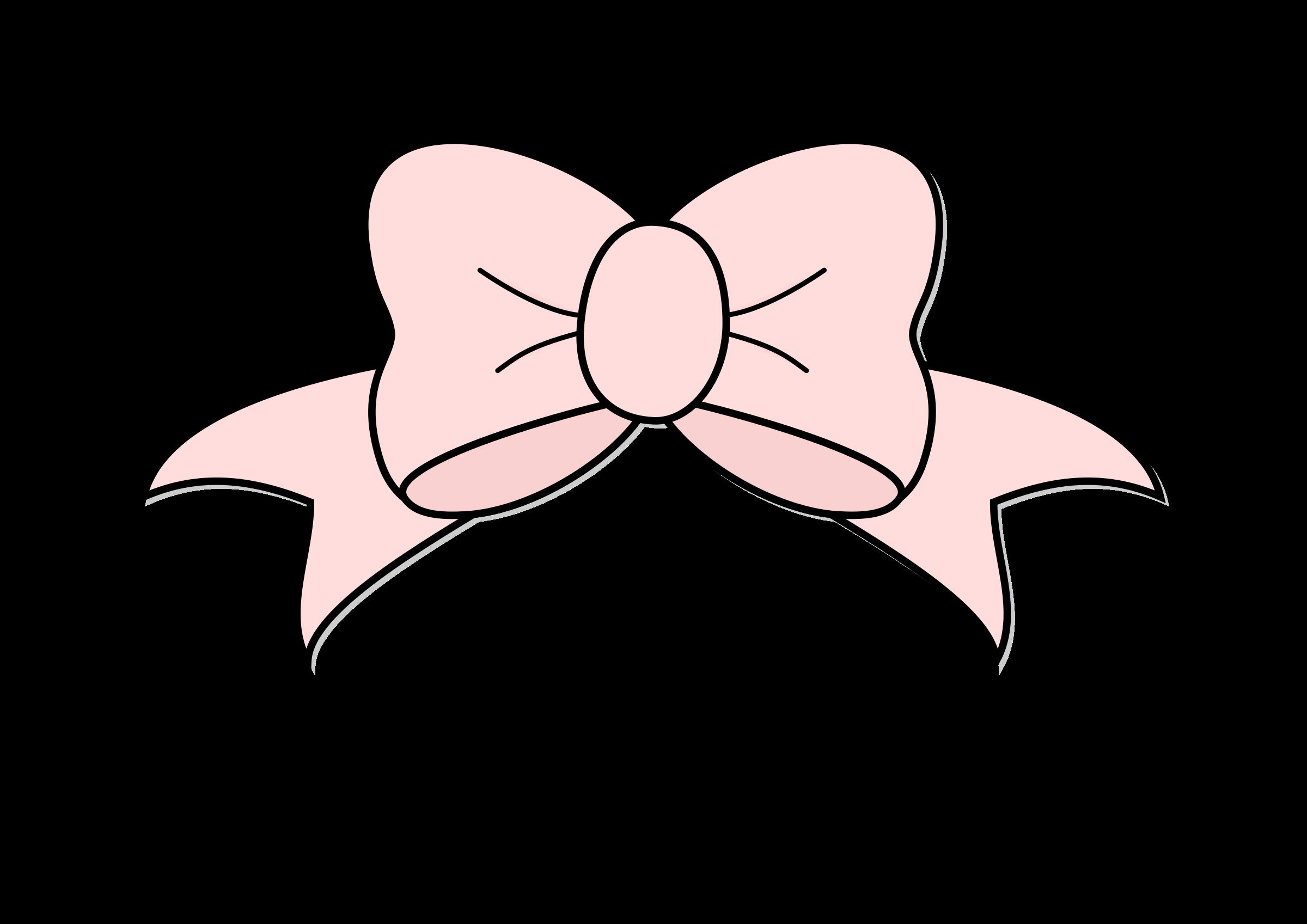 Bows clipart vector. Pink hair big bow