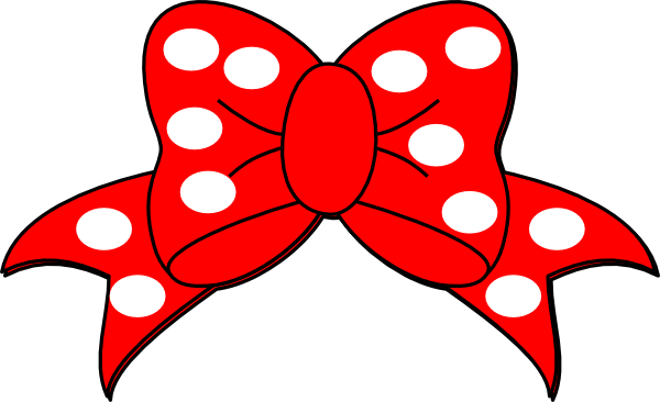 Clip art polka bow. Bows clipart vector