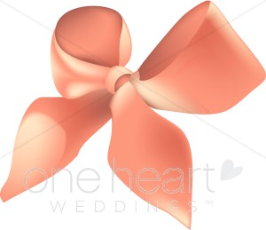 Bows clipart wedding. Pink bow