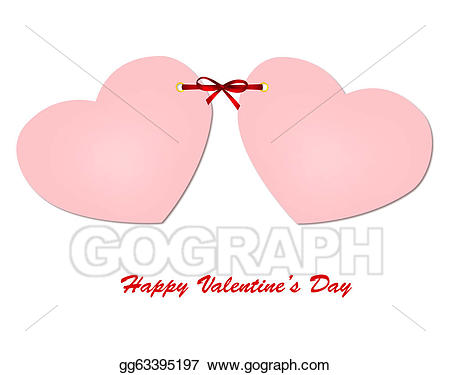 Invitation heart pink cards. Bows clipart wedding