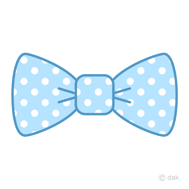 Light blue with dots. Bowtie clipart