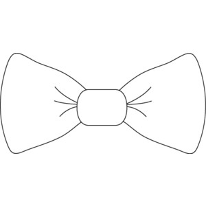 collection of bow. Bowtie clipart black and white