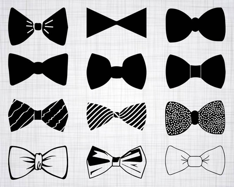 Bowtie clipart bow tie. Svg bundle cut files