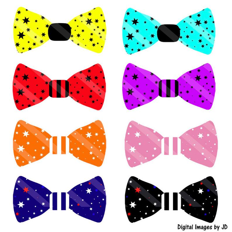 Stars and stripes party. Bowtie clipart bow tie