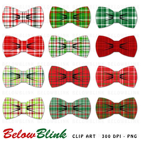 Bow clipart printable. Christmas plaid ties clip
