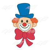 Abeka clip art face. Bowtie clipart clown