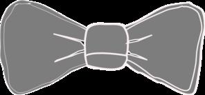 Gray bow tie clip. Bowtie clipart grey