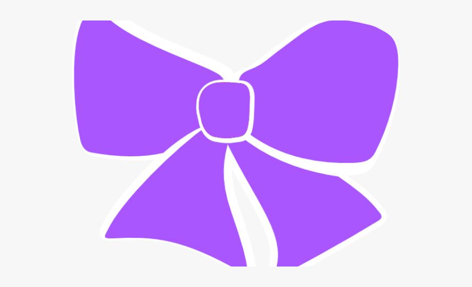 Tie cheer purple . Bowtie clipart hair bow