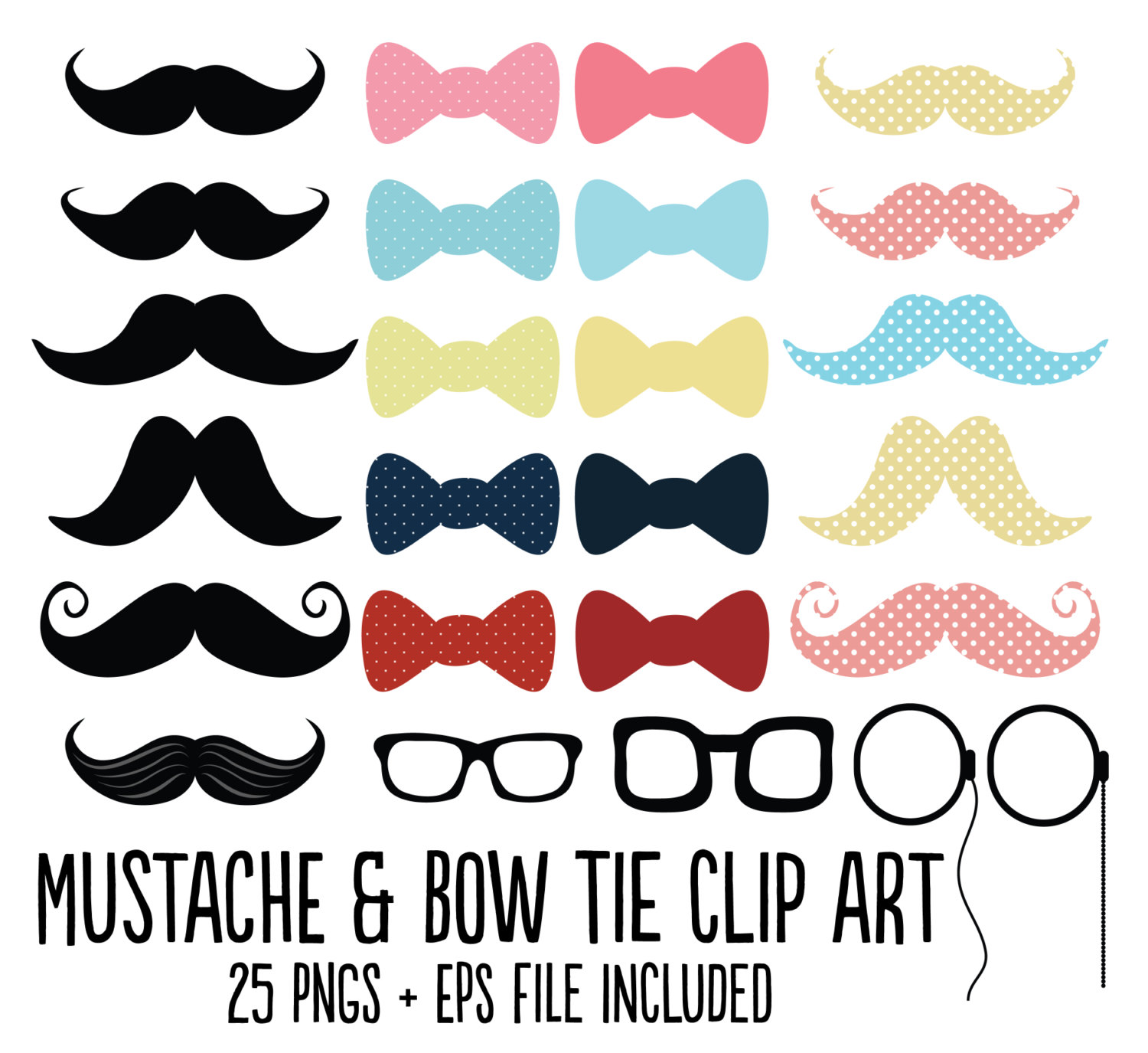 Bow . Bowtie clipart hipster