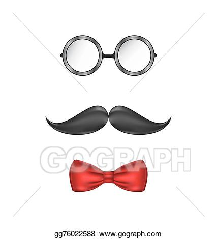 Vector symbolic of a. Bowtie clipart hipster