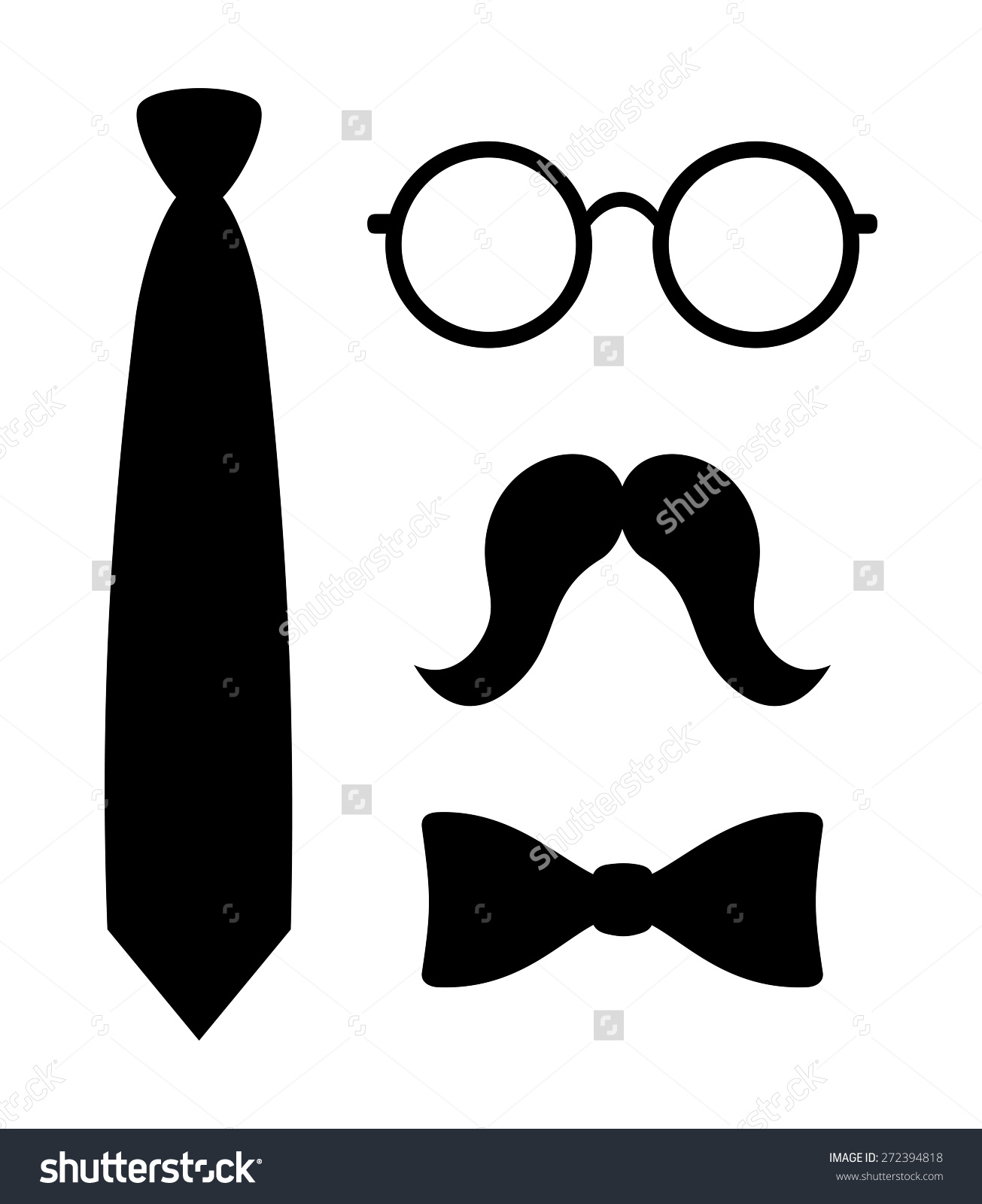 Bowtie clipart hipster. Silhouette at getdrawings com