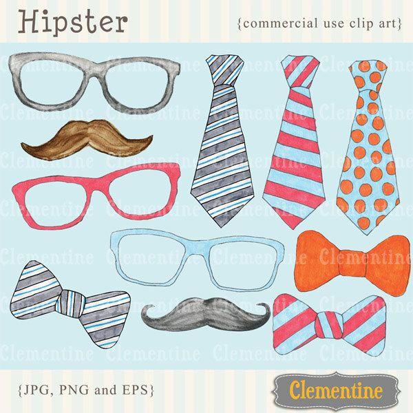 Clip art images moustache. Bowtie clipart hipster