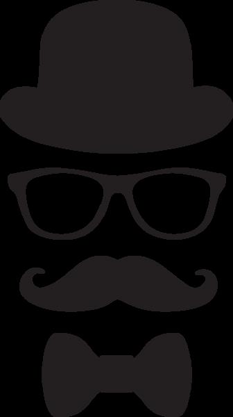 Mustache clipart man's hat.  ga glasses and