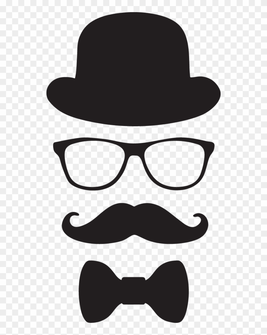 Moustache clipart bow tie.  ga hat glasses
