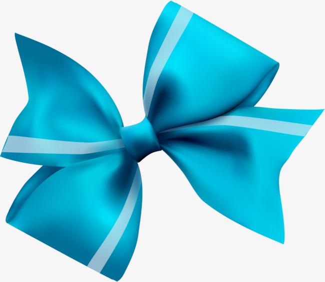 Hand drawn blue ribbon. Bowtie clipart simple bow