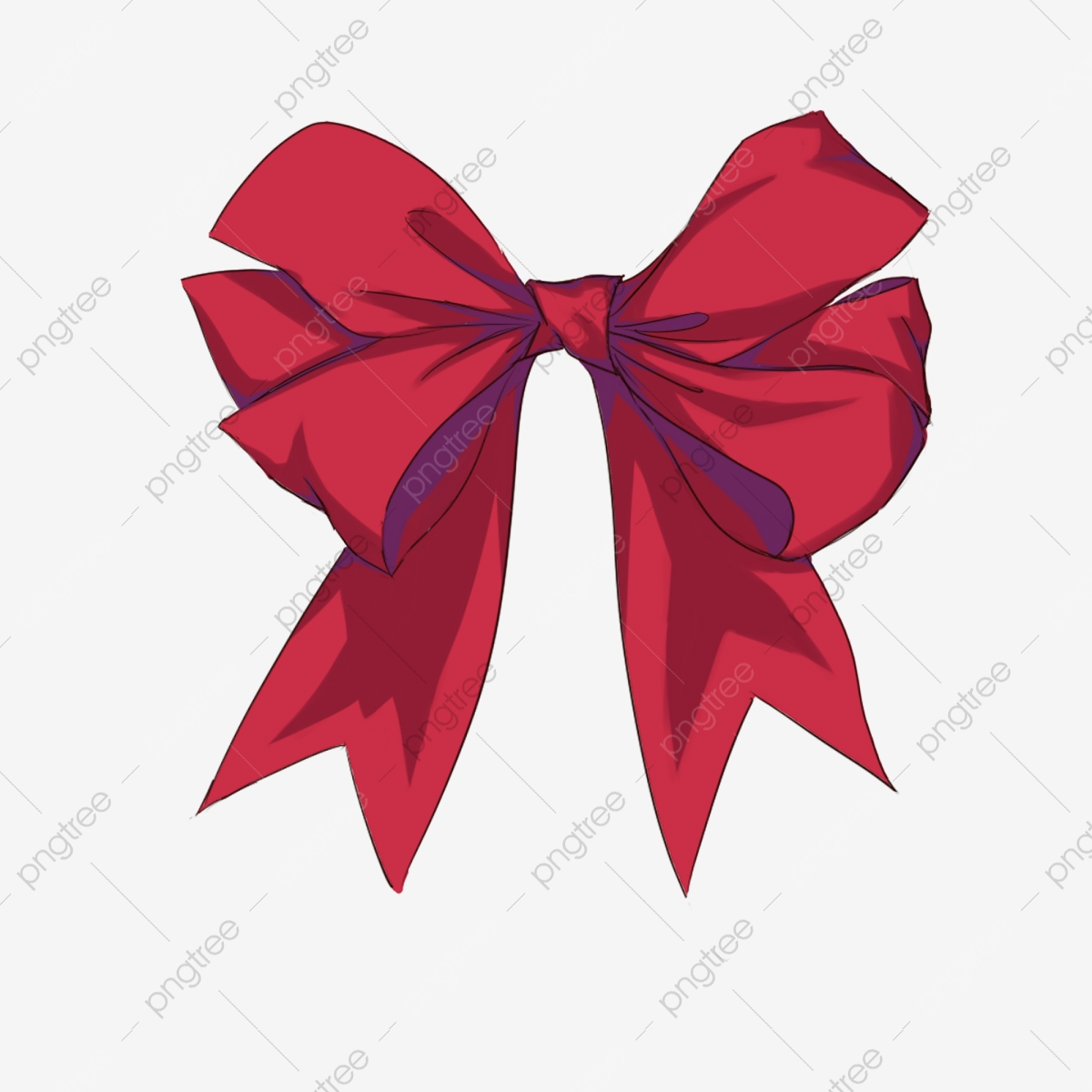 Red png transparent . Bowtie clipart simple bow
