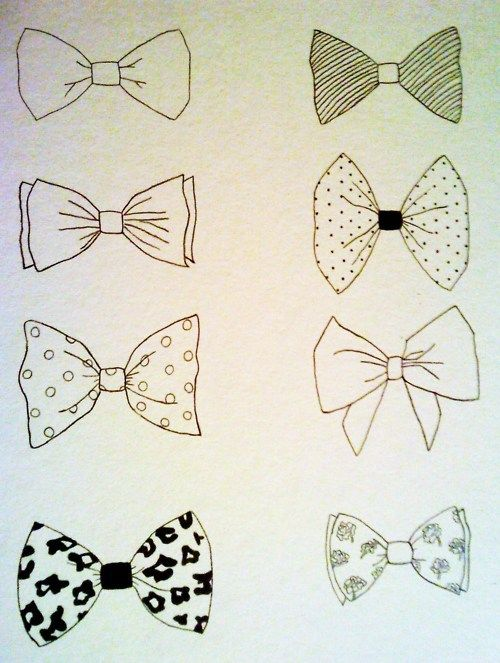 Tie drawings tattoos drawing. Bowtie clipart simple bow