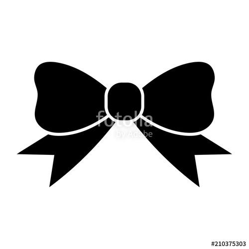 Bowtie clipart simple bow. Flat black tie ribbon