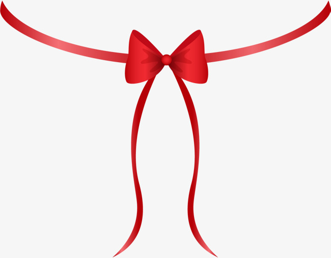 Hand drawn red tie. Bowtie clipart simple bow