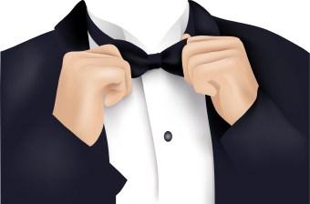 V com weekend vote. Bowtie clipart tuxedo