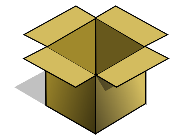 Empty . Box clipart