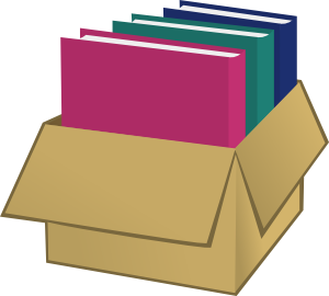 Box clipart. With folders clip art