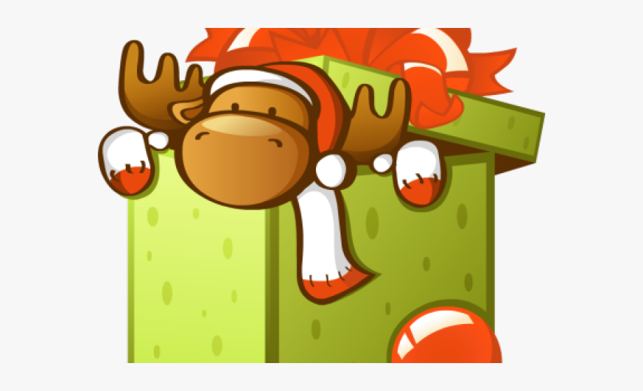 Parcel cute gift christmas. Box clipart animated