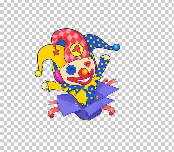 Clown cartoon png art. Box clipart animated