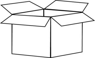 Box clipart black and white. Station