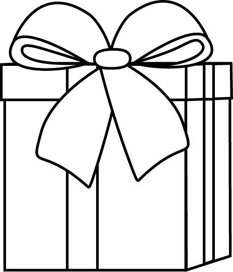 Boxes clipart outline. Gift box black and