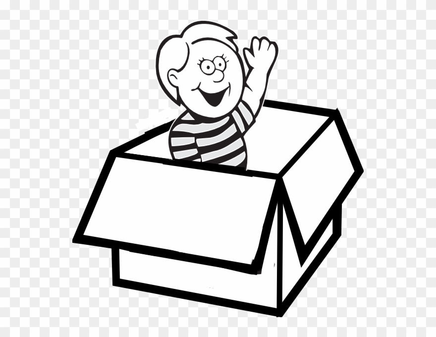Paper png download . Box clipart black and white
