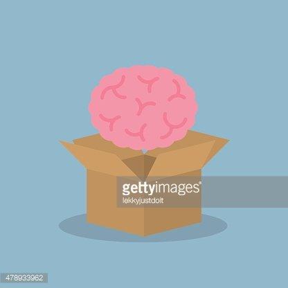 Box clipart brain. Over opened premium clipartlogo