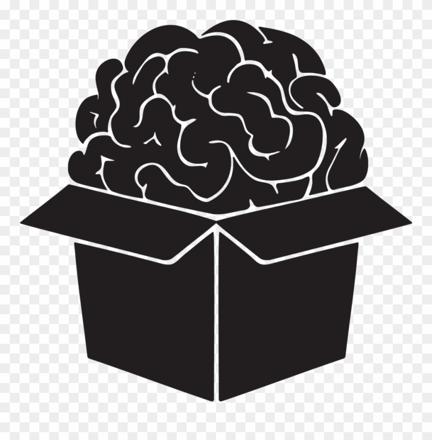 Box clipart brain. Logo as a black