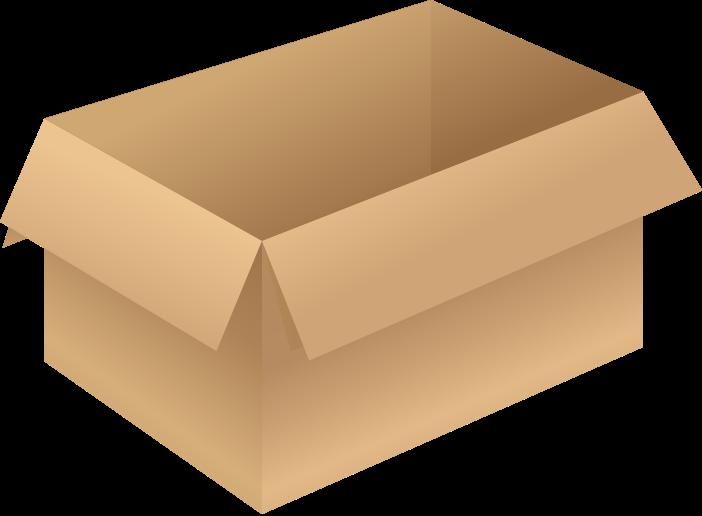 Brown opened free vector. Clipart box carton box