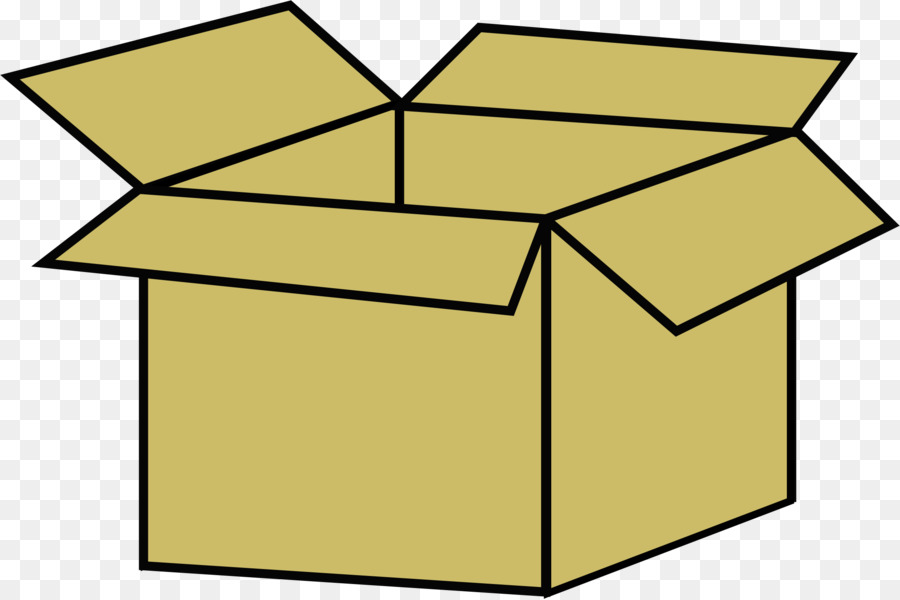Yellow line transparent clip. Box clipart cardboard box