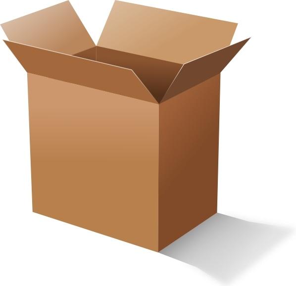 Box clipart cardboard box. Clip art free vector