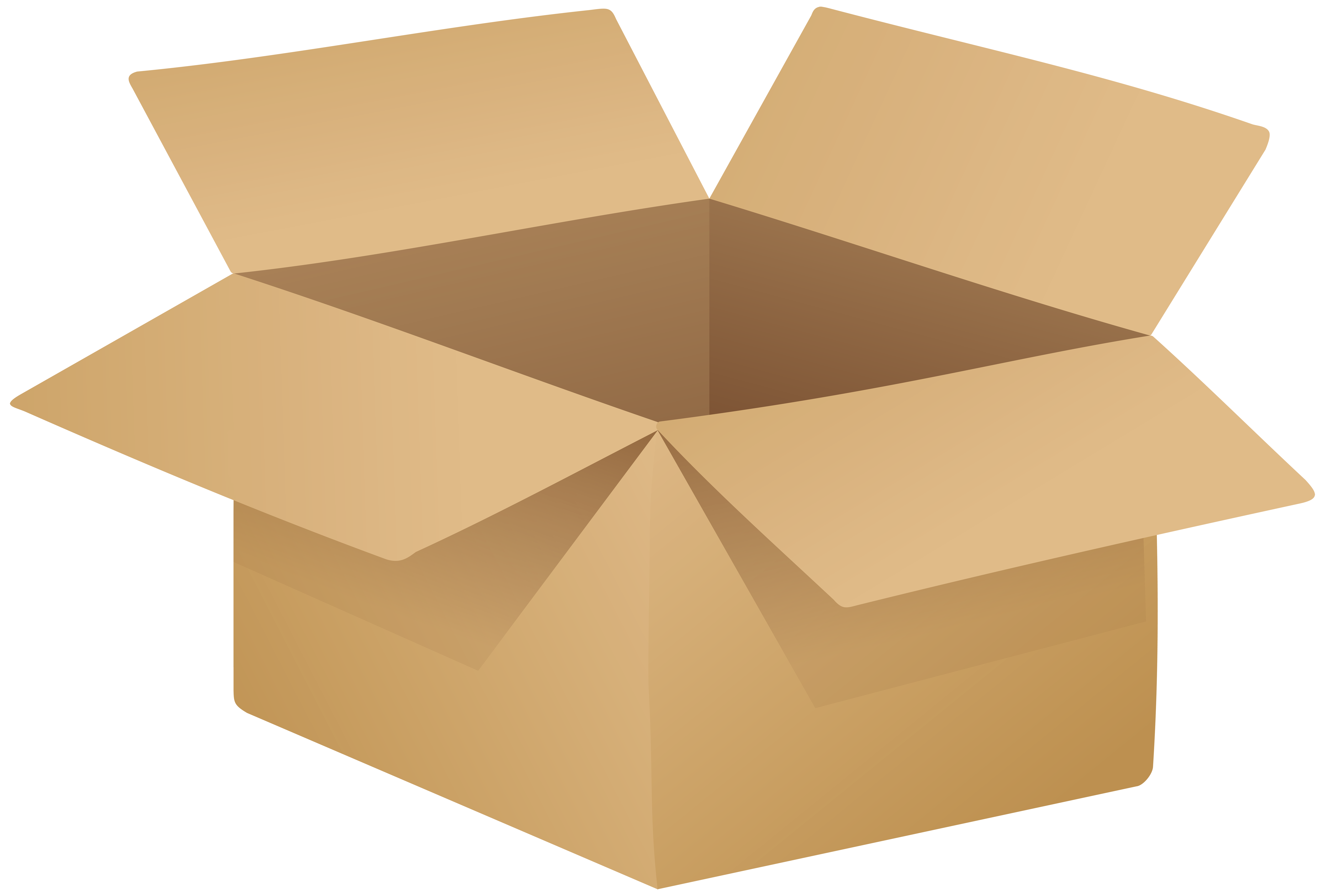 Box clipart cardboard box. Open png clip art