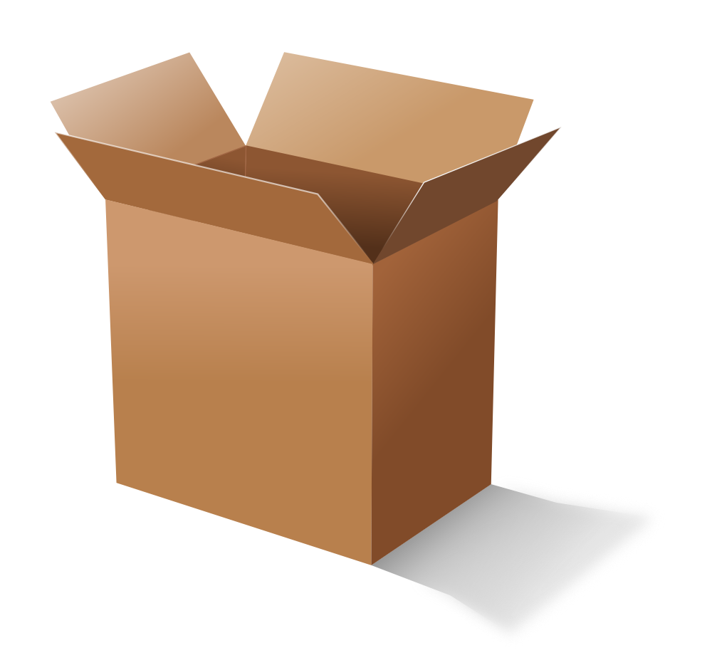 Onlinelabels clip art . Box clipart cardboard box