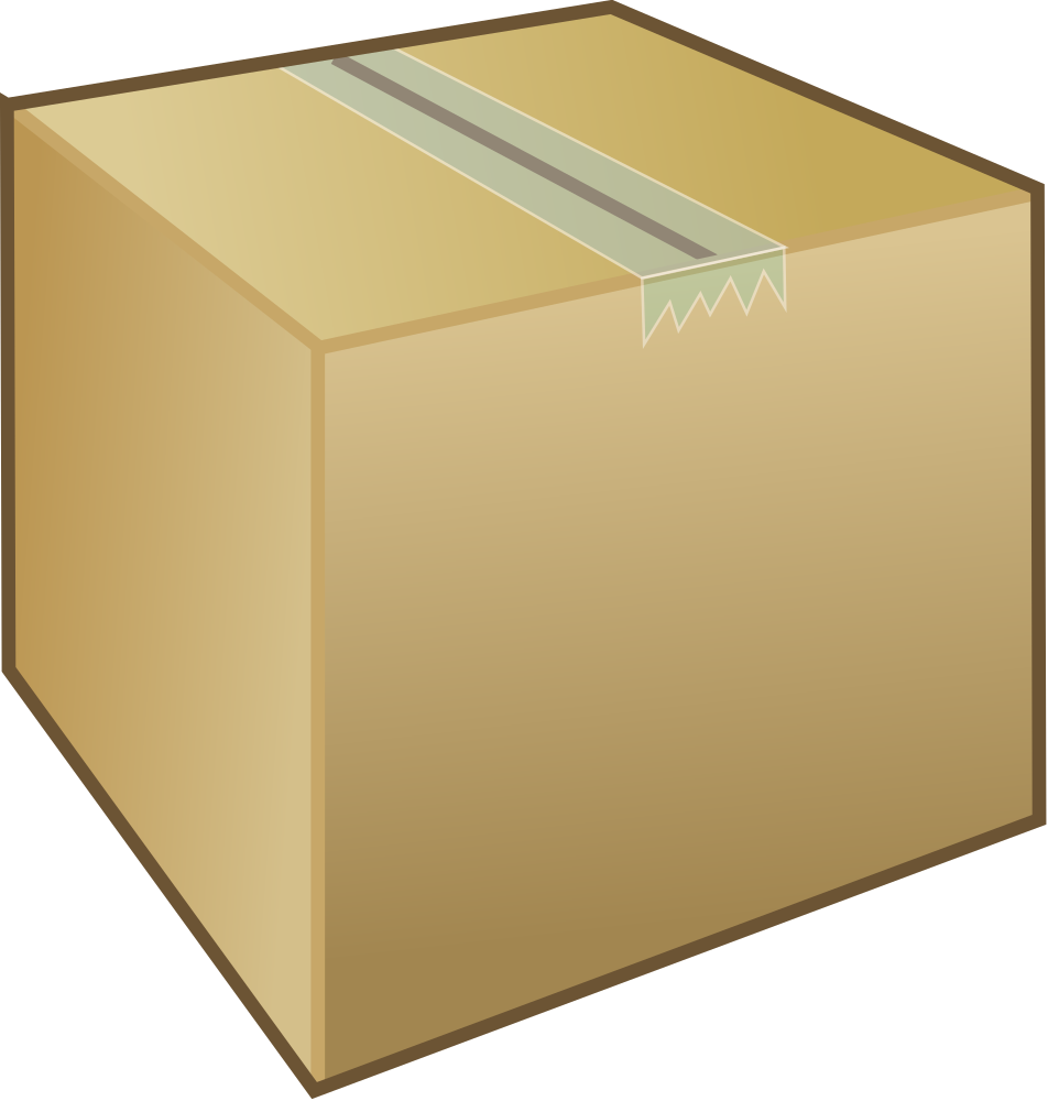 Clipart box cardboard box. Onlinelabels clip art package