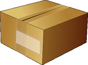 Closed carton clip art. Box clipart cardboard box
