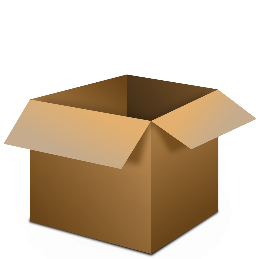 Clipart box rectangular box. Open cardboard