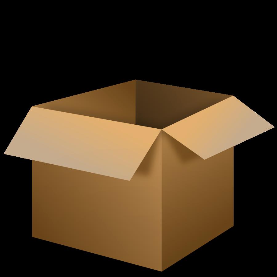 Pasta clipart boxed. Open cardboard box
