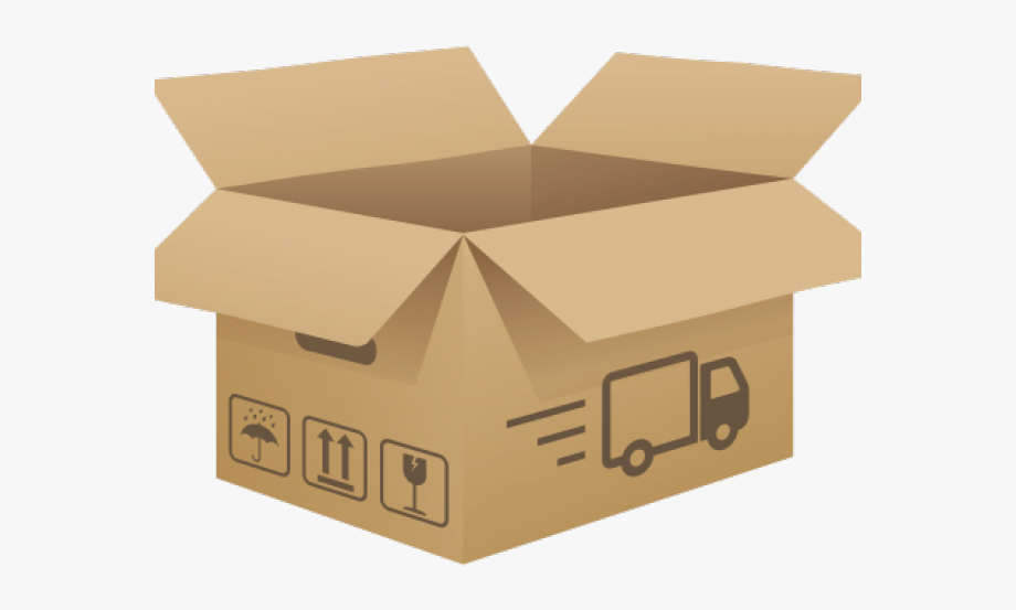Box background open cardboard. Boxes clipart transparent